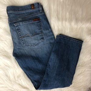 ✨7 for all mankind crop straight leg size 16